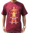 トップをねらえ2! バスターマシン7号 Tシャツ バスター軍団カラー(えんじ色) Lサイズ