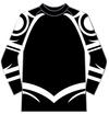 【セール】天元突破グレンラガン カミナタトゥー ラグランTシャツ Mサイズ(黒)