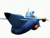 【蔵出し】【半額セール】ふしぎの海のナディア 万能潜水艦ノーチラス号 1/500 新世紀合金 潜水イメージカラーVer.