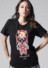 【蔵出し】【半額セール】EVA×HbG 2号機キャメろんTシャツ メンズ カラーVer. Lサイズ 黒 (モバコレ)