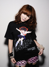 DAICON3 女の子 Tシャツ フルカラー Black M