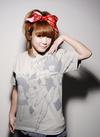 DAICON3&4 女の子 Tシャツ オーバープリント Silver Gray XL