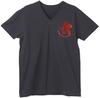 【蔵出し】【半額セール】Uniform NERV 009 【ラインストーン VネックTシャツ】 ブラック×レッド Lサイズ