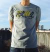 【セール】FLCL×MANGART BEAMS T コラボTシャツ FLCL dazzle Logo【ガイナックス限定カラー/杢グレー×ブラック】XLサイズ