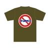 標識Tシャツ「シモン穴掘り禁止」オリーブ S