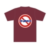 標識Tシャツ「シモン穴掘り禁止」バーガンディ S