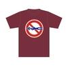 標識Tシャツ「シモン穴掘り禁止」バーガンディ M