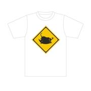 標識Tシャツ「ブータ飛び出し注意」ホワイト M