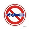 標識ステッカー「シモン穴掘り禁止」
