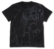 トップをねらえ!ガンバスターオールプリント Tシャツ 黒 XLサイズ(コスパ)