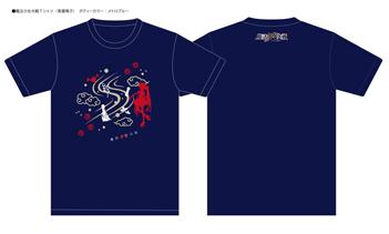 『魔法少女大戦』GAINAXオリジナルデザイン和柄Tシャツ 青葉鳴子(S/M/L/XL)
